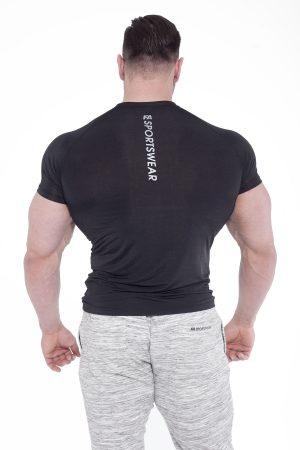 Fitness Shirt Heren Compressie Zwart - Fitness Authority-2