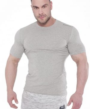 Fitness Shirt Heren Elegance Lichtgrijs - Fitness Authority-1
