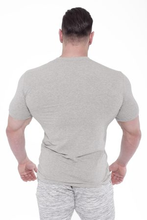 Fitness Shirt Heren Elegance Lichtgrijs - Fitness Authority-2