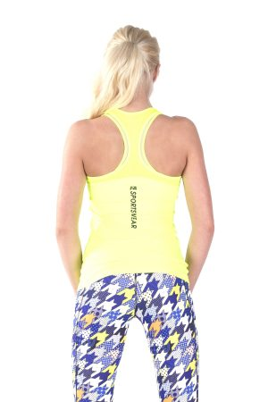 Fitness Tanktop Dames Basic Geel - Fitness Authority-2