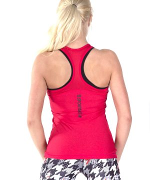 Fitness Tanktop Dames Basic Rood - Fitness Authority-1
