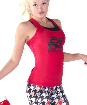 Fitness Tanktop Dames Basic Rood - Fitness Authority-3