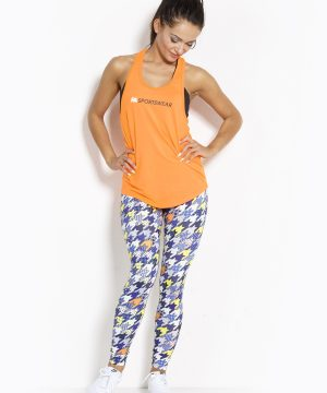 Fitness Tanktop Dames Loose Oranje - Fitness Authority-3