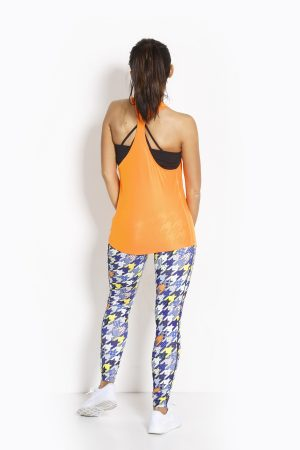 Fitness Tanktop Dames Loose Oranje - Fitness Authority-4