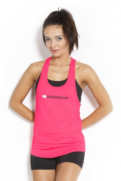 Fitness Tanktop Dames Loose Roze - Fitness Authority-1