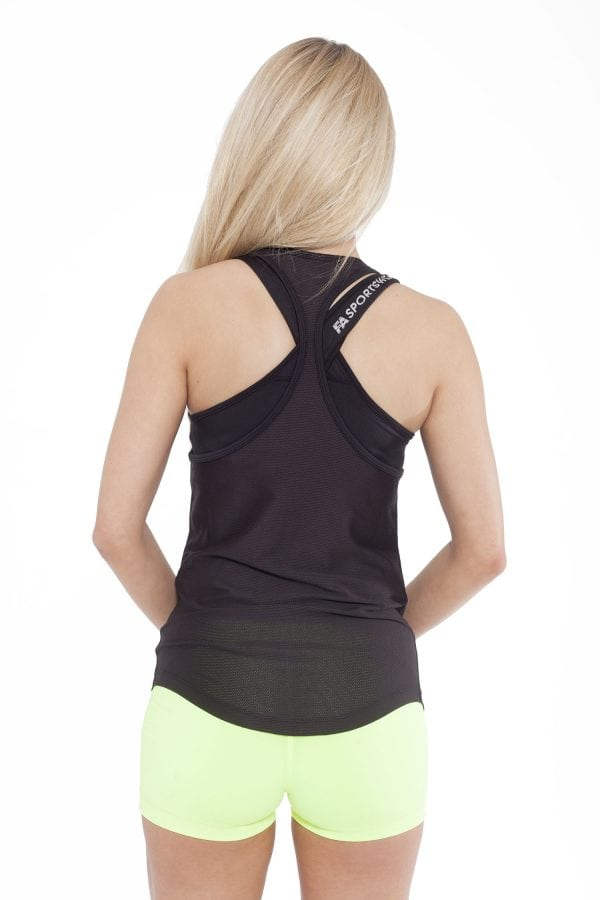 Fitness Tanktop Dames Loose Zwart - Fitness Authority-2