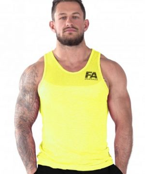Fitness Tanktop Heren Basic Geel - Fitness Authority-1