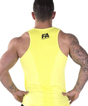 Fitness Tanktop Heren Basic Geel - Fitness Authority-2