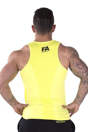 Fitness Tanktop Heren Basic Geel - Fitness Authority-2