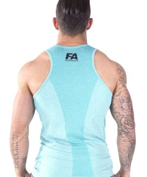 Fitness Tanktop Heren Basic Lichtblauw - Fitness Authority-3