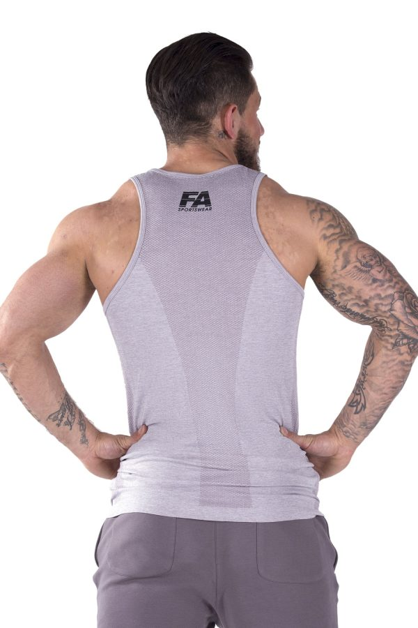 Fitness Tanktop Heren Basic Lichtgrijs - Fitness Authority-3