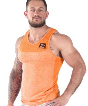 Fitness Tanktop Heren Basic Oranje - Fitness Authority-2