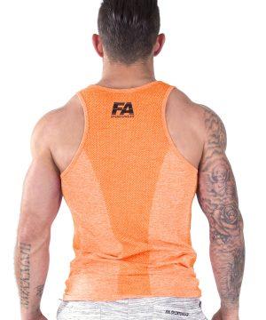 Fitness Tanktop Heren Basic Oranje - Fitness Authority-3