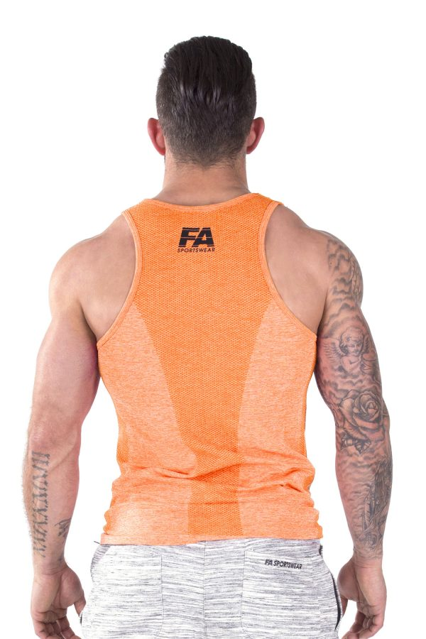 Fitness Tanktop Heren Basic Oranje - Fitness Authority-3