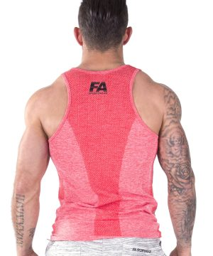 Fitness Tanktop Heren Basic Rood - Fitness Authority-3