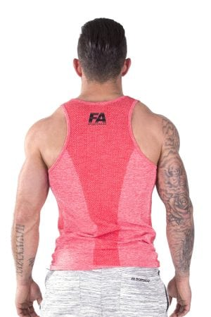 Fitness Tanktop Heren Basic Rood - Fitness Authority-3