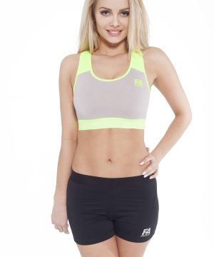 Fitness Top Dames Form Grijs Groen - Fitness Authority-1