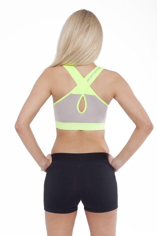 Fitness Top Dames Form Grijs Groen - Fitness Authority-2