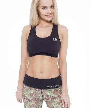 Fitness Top Dames Form Zwart - Fitness Authority-1
