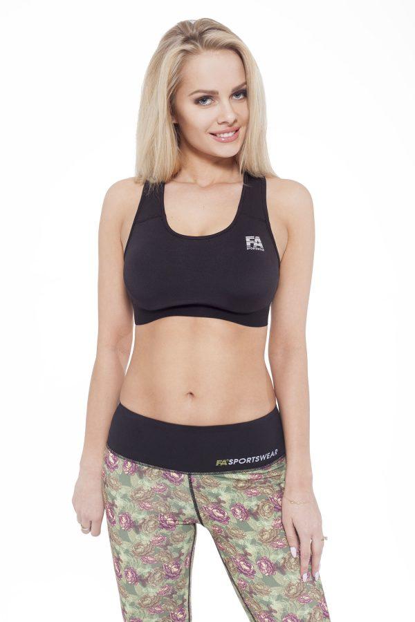 Fitness Top Dames Form Zwart - Fitness Authority-1