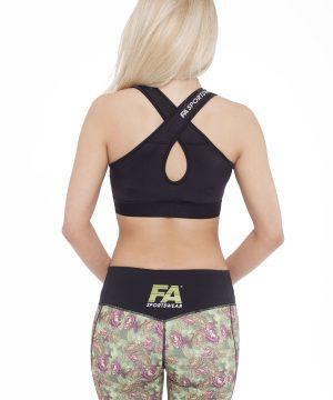 Fitness Top Dames Form Zwart - Fitness Authority-2