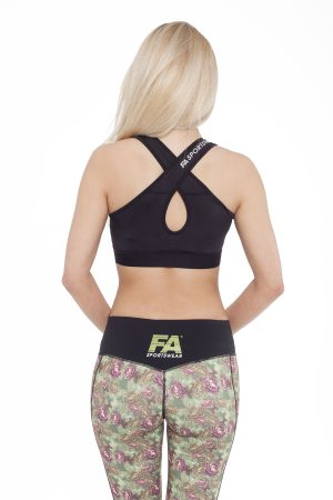 Fitness Top Dames Form Zwart - Fitness Authority-2