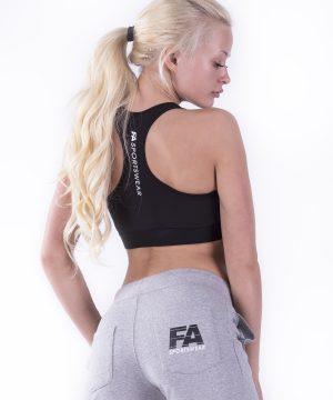 Fitness Top Dames Hardy Zwart - Fitness Authority-2