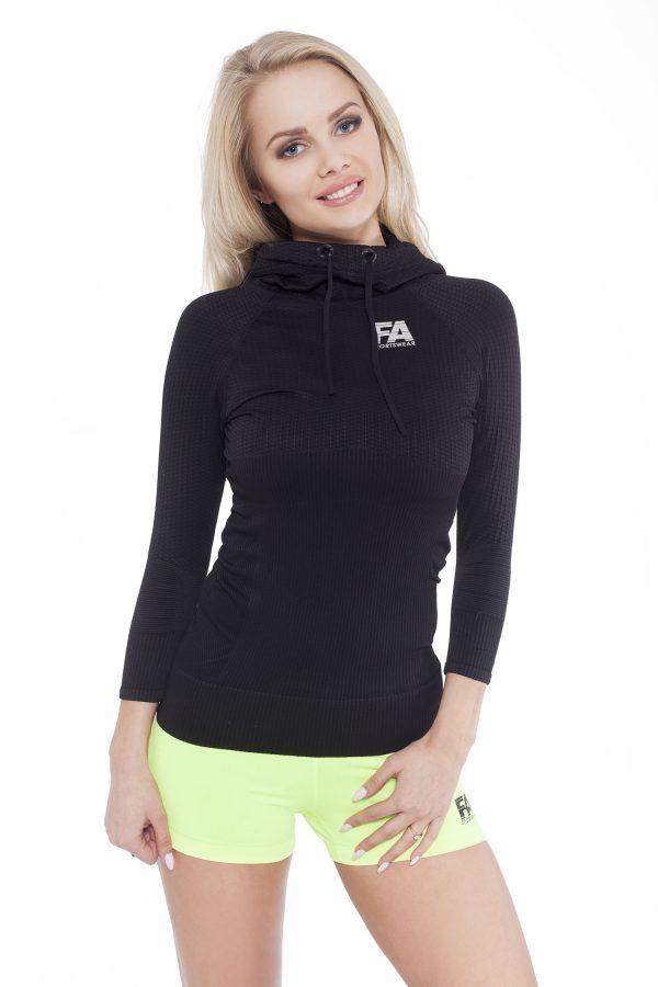 Fitness Trui Dames Superstar Zwart - Fitness Authority-1