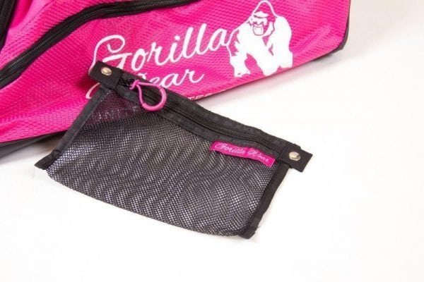 bodybuilding-tas-roze-zwart-gorilla-wear-santa-rosa-gym-bag-detail-2
