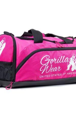 bodybuilding-tas-roze-zwart-gorilla-wear-santa-rosa-gym-bag-voorkant-4