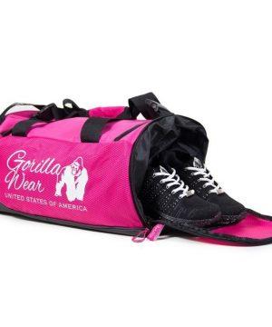 bodybuilding-tas-roze-zwart-gorilla-wear-santa-rosa-gym-bag-zijkant-1
