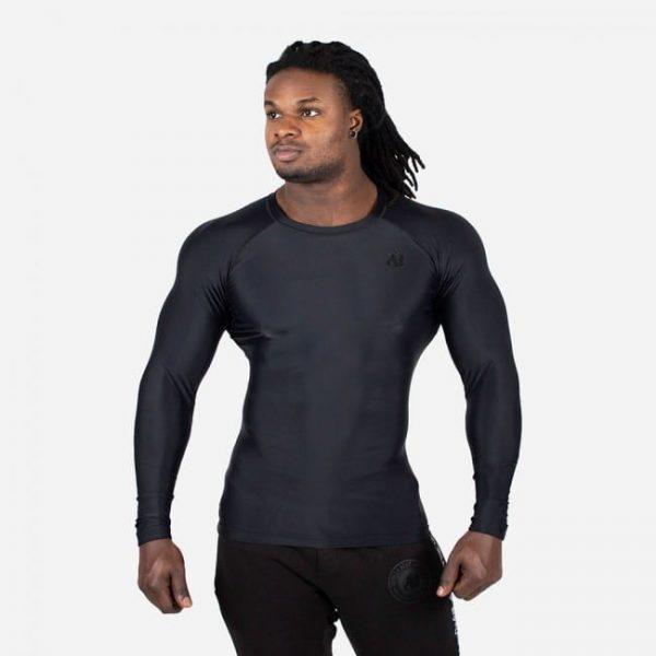 Compressie Longsleeve Zwart - Gorilla Wear Hayden-1