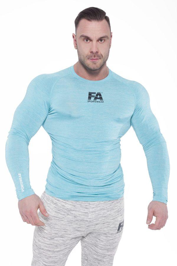 Fitness Longsleeve Heren Blauw - Fitness Authority-1
