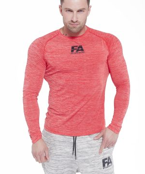 Fitness Longsleeve Heren Rood - Fitness Authority-1