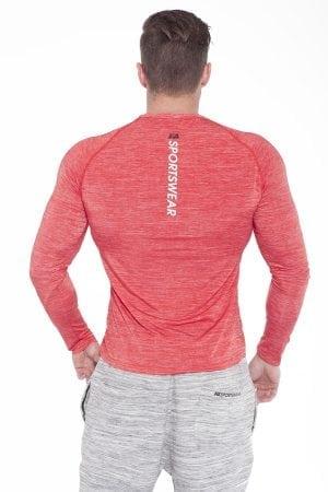 Fitness Longsleeve Heren Rood - Fitness Authority-2