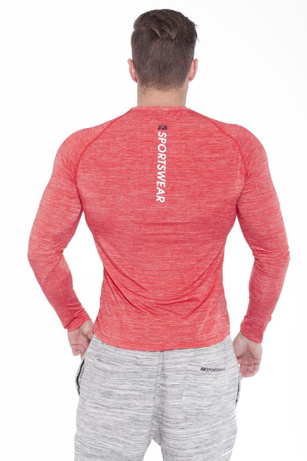 Fitness Longsleeve Heren Rood - Fitness Authority-2