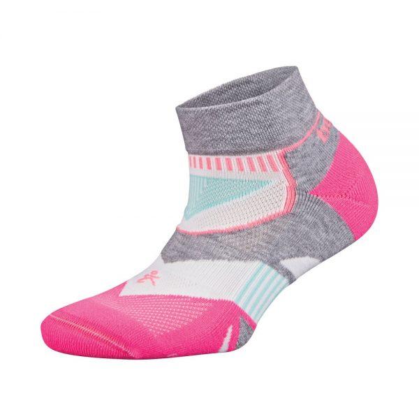 Fitness-Sokken-Dames-Roze-Wit-Balega-Enduro-Low-Cut