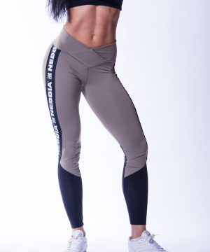 High Waist Sportlegging Mesh Mokka Nebbia 601 4 2