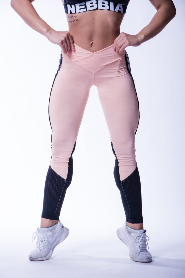 High Waist Sportlegging Mesh Zalm Nebbia 601 1 2
