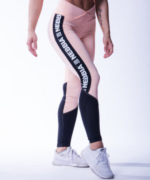 High Waist Sportlegging Mesh Zalm Nebbia 601 3 2