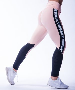 High Waist Sportlegging Mesh Zalm Nebbia 601 4 2