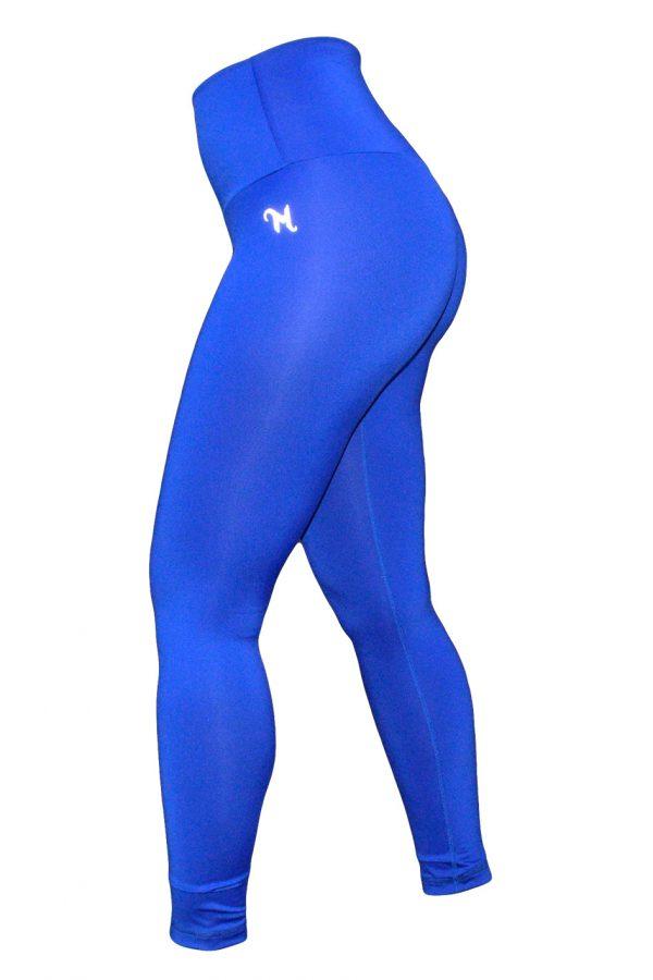 High Waist fitnesslegging Dames Blauw – Mfit-1