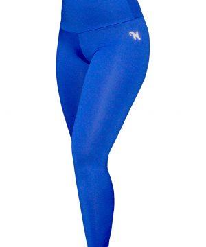 High Waist fitnesslegging Dames Blauw – Mfit-2