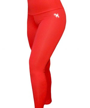 High Waist fitnesslegging Dames Rood – Mfit-2