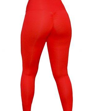 High Waist fitnesslegging Dames Rood – Mfit-3