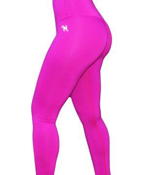 High Waist fitnesslegging Dames Roze – Mfit-1