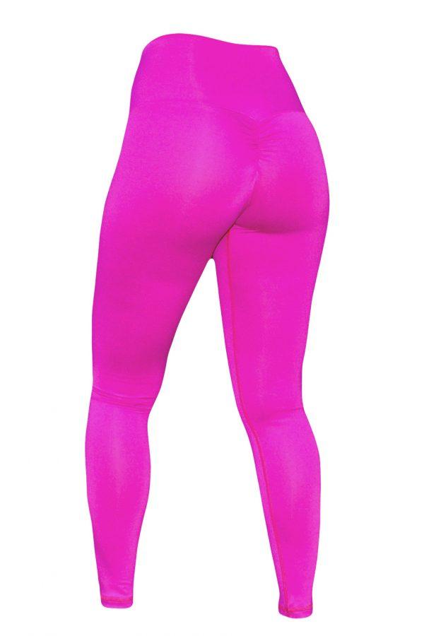 High Waist fitnesslegging Dames Roze – Mfit-3
