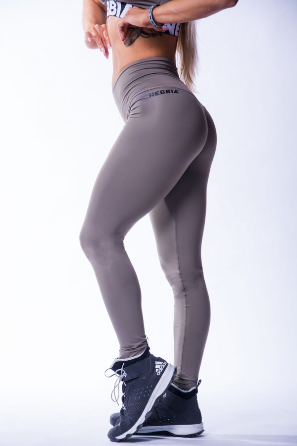High waist Sportlegging Scrunch Butt Mokka nebbia 604 7