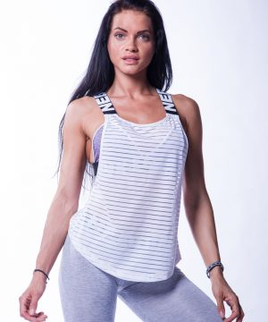 Sport Tank Top Dames Wit Wrap Up Nebbia 626 1