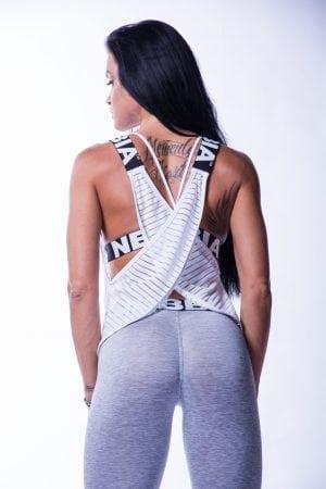 Sport Tank Top Dames Wit Wrap Up Nebbia 626 2